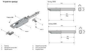 Комплект привода SW-3000KITMP